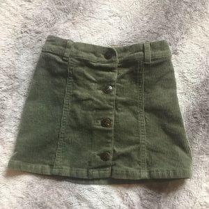 Crazy 8 olive green mini skirt corduroy 3t